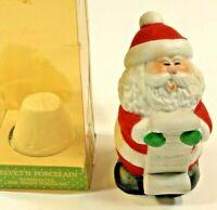 Jasco Winter Wonderland Bell Santa Claus HTF Vintage 1985 Velvet N' Porcelain