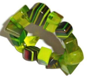 Sobral Aventuras Indiana Chunky Green Bead Artist Made Stretch Bracelet