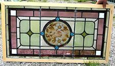 A good Victorian painted leaded glass window