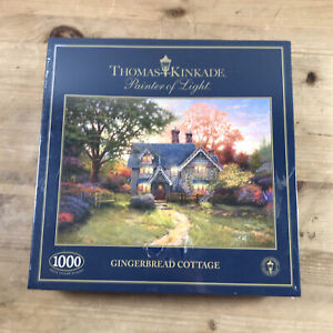 Gibsons Thomas Kinkade Jigsaw Puzzle 1000-Piece 'Gingerbread Cottage'