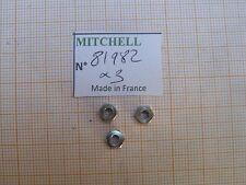 3 ECROU ANTI RETOUR MITCHELL 496 498 & autres MOULINETS LOCK NUT RELL PART 81982