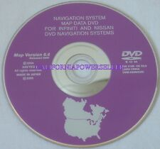 2003 2004 Infiniti M Model M45 45 Sedan Q45 Navigation DVD Map v.6.4 U.S Canada
