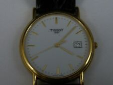 Mens 18ct Gold Tissot Centre Seconds Wristwatch 2008 Boxed Papers