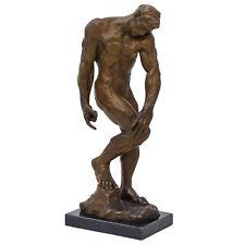 Bronzeskulptur Adam nach Rodin, Kopie, im Antik-Stil Bronze Figur Statue 55cm