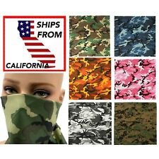 "Camo Scarf Bandanas Large 22"" Camouflage Bandana Headwrap Cloth Biker"