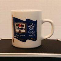 Vintage Labatt's Beer Proud Sponsor 1988 Calgary Olympics Cup Mug