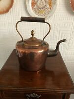 Lovely Antique Copper Tea Kettle With Acorn Finial