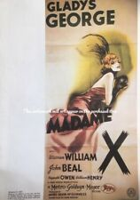 Classic Movie Poster MADAME X 30s Gladys George vamp A3 Repro Vintage Film