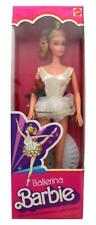 Vintage 1975 Ballerina Barbie in White Dance Outfit Mattel #9093, Very Clean NIB
