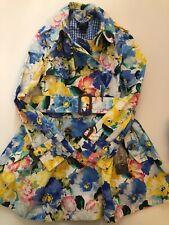 Ralph Lauren Polo Trench Coat Mantel Blumen Bunt Sommerkleid Gr. 7 128 122  neu