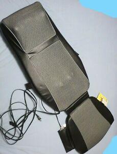 Homedics Deluxe Shiatsu Chair Heated Massaging Cushion MCS-600H w/ Carry Case