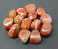 1/2 lb Banded Carnelian Tumbled Stones, Medium (Crystal Healing) 8 oz Bulk