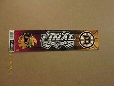 NHL Hawks Bruins Stanley Cup Final 2013 Bumper Sticker