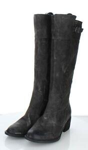 30-19 NEW $240 Women Sz 8 M Born Fannar Suede Knee High Boot In Dark Grey
