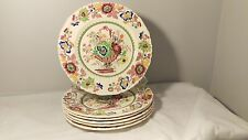"Mason's Strathmore Pink Set Of Six 8 7/8"" Luncheon Plates"