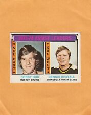 1974-75 O PEE CHEE BOBBY ORR and HEXTALL LL NO:2 Ex cond       LOT 63