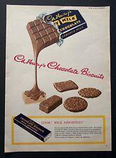 CADBURY'S CHOCOLATE BISCUITS - Vintage Colour Magazine Advert (24 Oct 1953) *