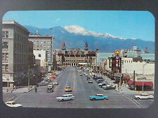 Colorado Springs Pikes Peak Avenue Antlers Hotel Color Postcard c1950s Vintage