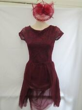 Dark Red Lace Lyrical Dance Costume Small Adult SA