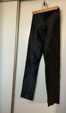 Vintage 70s Black Stretch Shiny Disco Skinny Pants size 1