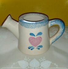 Loomco Functioning Watering Pottery Can with Heart