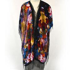 NEW NWOT Wearable Art Custom Made Velvet 100% Silk Robe Opera Coat O/S XL 1X 2X