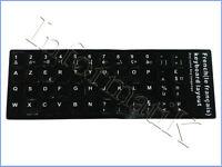 Black French Stickers Keyboard Autocollants Etiquette Noire Clavier Francais