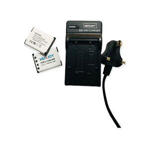 2 x LI-40B / LI-42B Battery  & UK plug Charger Olympus Cameras FE-230 FE-240 FE