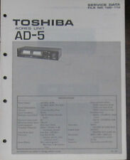Toshiba AD-5 Adres Unité Service repair workshop manual (original)