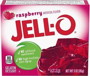 Jell-O Gelatin Dessert Raspberry  3oz 85g (6 PACK)
