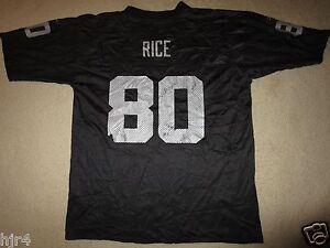 Jerry Rice #80 Oakland Raiders Black Reebok NFL Jersey LG L