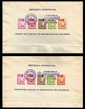 Dominican Republic. Anti-Malaria. Two miniature sheets. Perf. & Imper. (BI#PHIL)