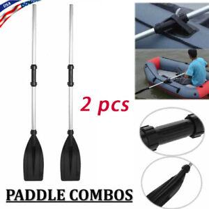 2Pcs Double-Ended Detachable Afloat Oars Paddles Boat Kayak Raft Canoe Oars