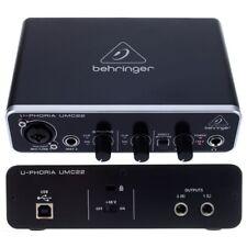 BEHRINGER U-PHORIA UMC22 scheda audio usb x registrazione da microfoni strumenti