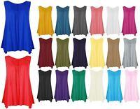 New Ladies Womens Girls Sleeveless Camisole T Tank Shirt TeeTops Plain Vest Top