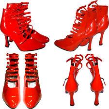 traumhafte rote Lack Schnallen Designer High Heels Pumps Stiefeltten  Gr.44