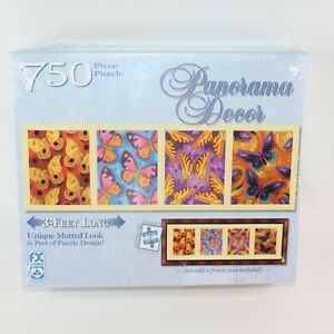 FX Schmid Panorama Decor Butterflies 3 ft Jigsaw Puzzle 750 Pieces Sealed Family