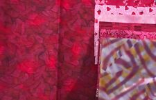 Yellow Brick Road QUILT KIT w/Cotton Classics Abstract Red CRIB SIZE