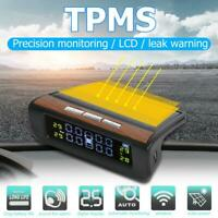 Solar Auto Car TPMS Tire Pressure LCD Monitoring System w/ 4 External Sensors