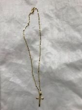 24K Yellow Gold Filled Necklace With JESUS Cross Pendant