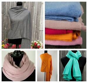 Cashmere Scarf Wrap Ladies Shawl Soft Warm Travel Blanket Pashmina Knitted Nepal