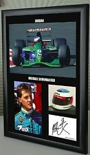 "Michael Schumacher 1st Year F1 Jordan Framed Canvas Signed Print ""Great Gift"""