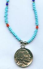 Halskette Necklace Indian Buffalo Coin Indianer Münze Western Indianerschmuck