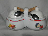 SMUCKER'S Condiment Bowl Set (NWO) with 2 Spoons