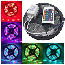 5M 16.4FT 5050 RGB SMD 300 LED Waterproof Flexible Strip Light w/ Remote Control