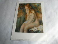 """Ancienne Lithographie A.Renoir """" Jeune Fille Au Bain """" Edition Fernand Hazan"""