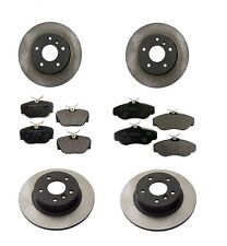 For Land Rover Range Rover 96-02 Front +Rear Disc Brake Rotors+Pads Aftermarket