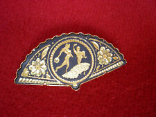 Pin Brooch from Toledo Spain With 24k Gold Inlaids