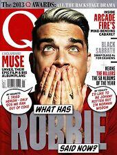 Q 01/2014 Robbie Williams Muse Black Sabbath Keane Lou Reed Q Awards 2013 @NEW @
