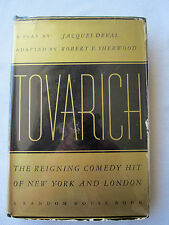 TOVARICH Jacques Deval 1937 COMEDY HIT Play THEATER Berdita Harding RUSSIANS